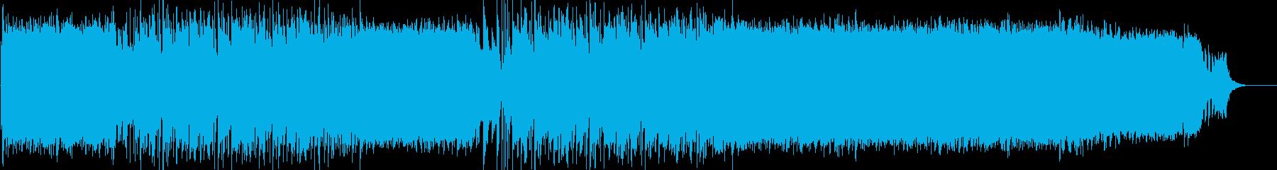 前向きなロックポップのラストバトル曲の再生済みの波形
