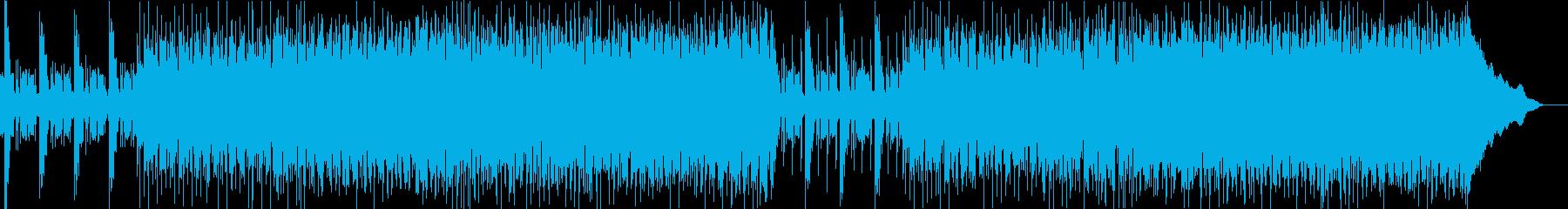 明るいエネルギッシュな音楽の再生済みの波形