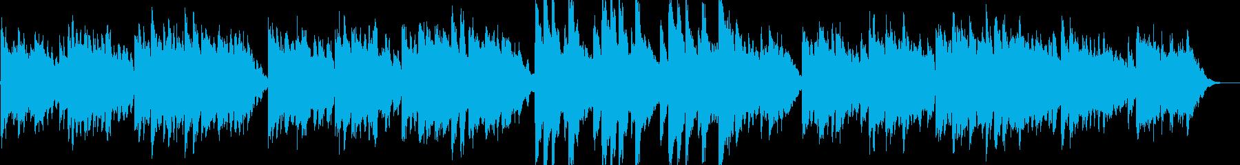 子供用の可愛らしいゆったりとしたBGMの再生済みの波形