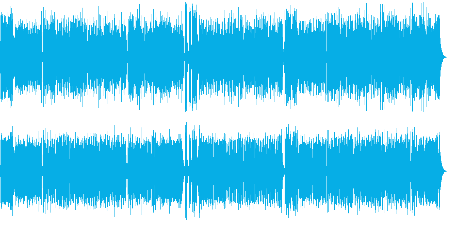 可愛らしい感じのマーチですの再生済みの波形