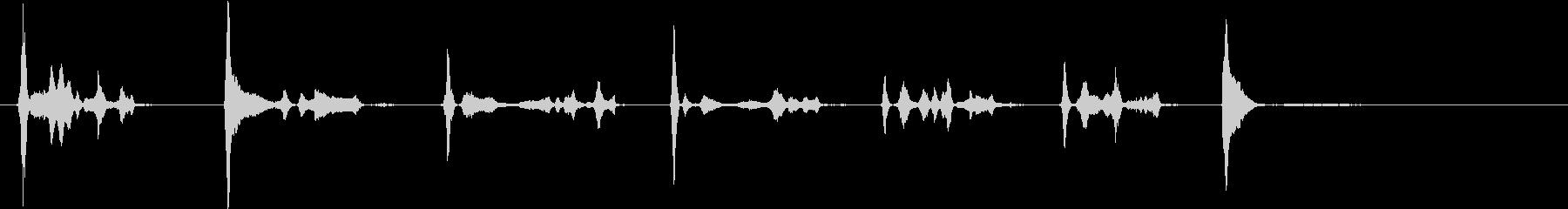 エアブレーキ;エアブレーキのヒスと...の未再生の波形
