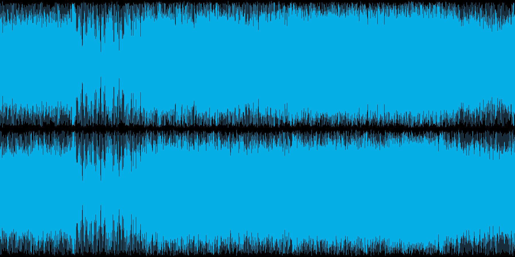 戦闘機でかっこよく駆け抜けていくメタル曲の再生済みの波形
