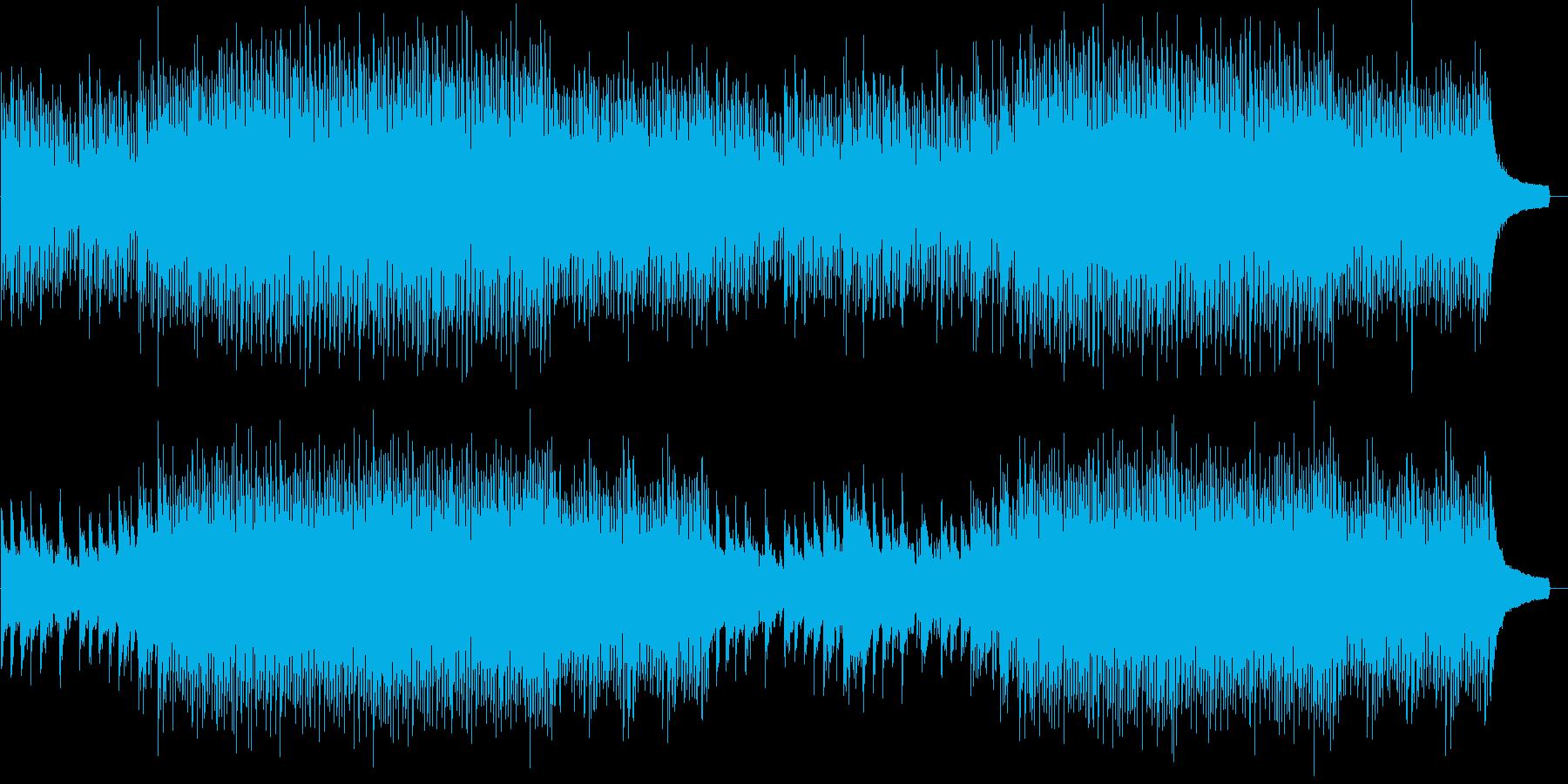 疾走感&爽快感のあるBGMの再生済みの波形
