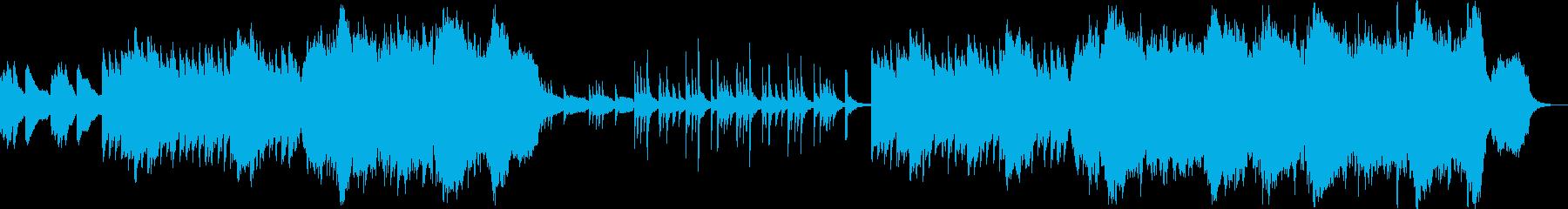 切ないピアノ&ストリングス曲の再生済みの波形