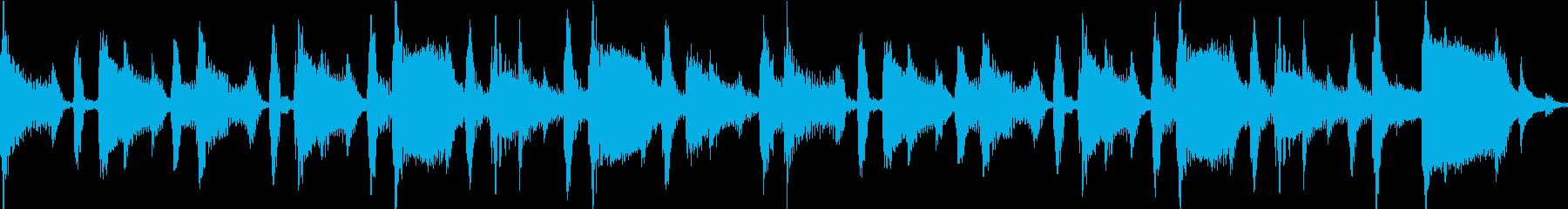 [ループ仕様]ほのぼのおしゃれなボサノバの再生済みの波形