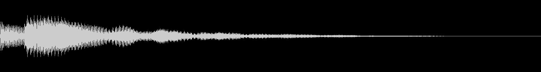 オリエンタルで涼やかな通知音の未再生の波形