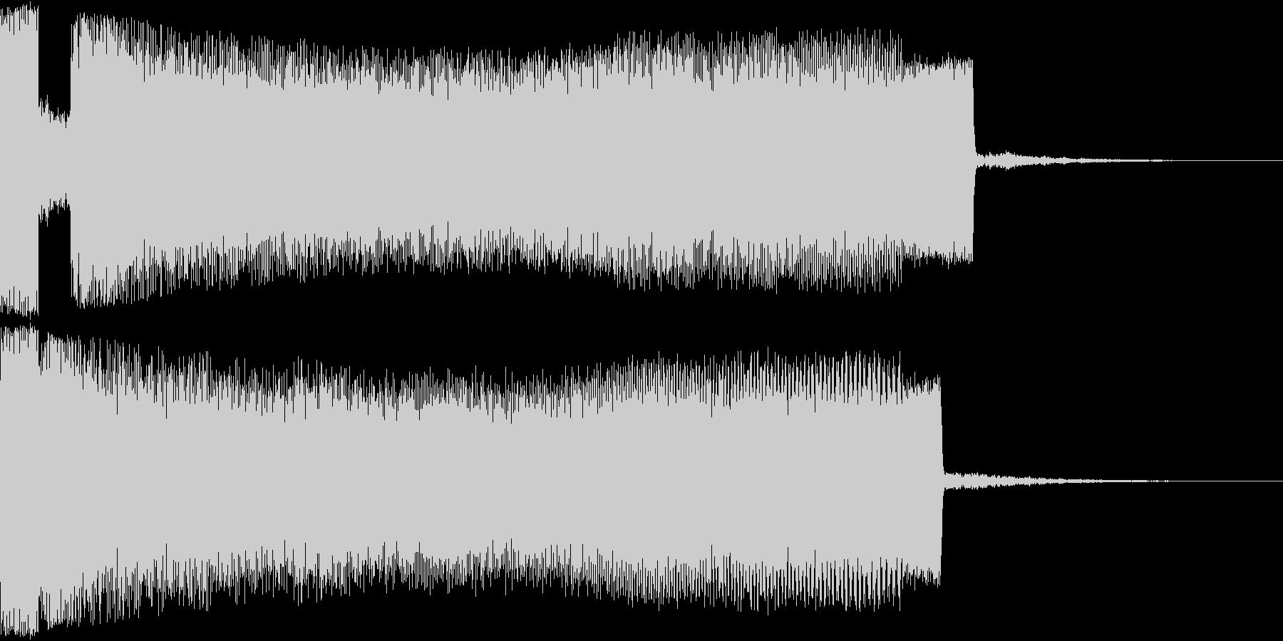 ワープ系上昇音の未再生の波形