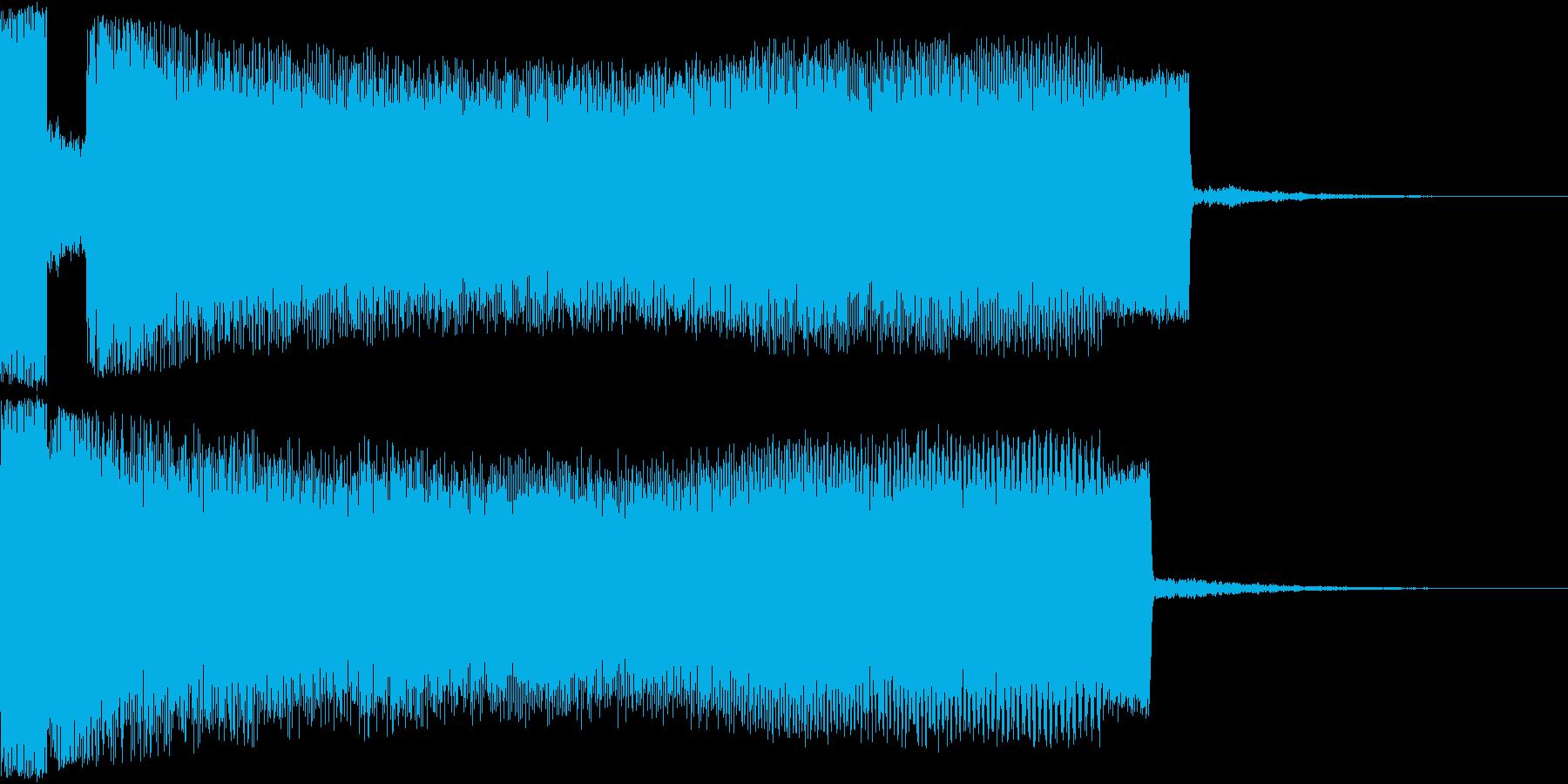 ワープ系上昇音の再生済みの波形