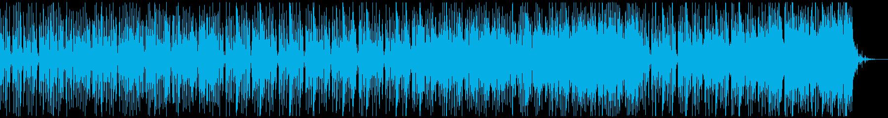 楽しく、コミカルなBGM (ドラム無し)の再生済みの波形