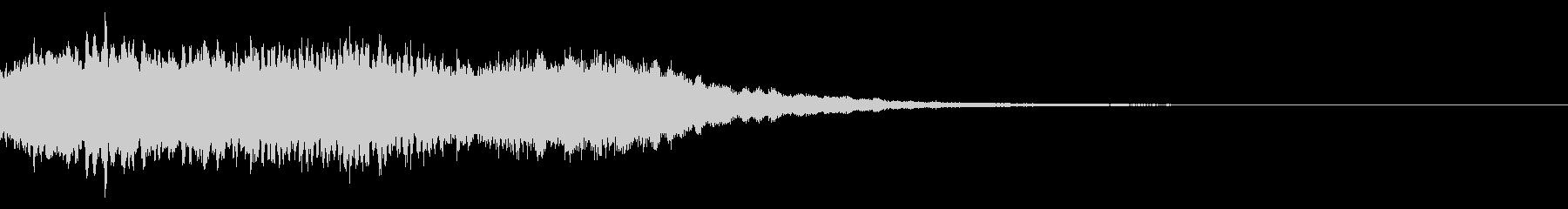 神社 結婚式の笛(笙)和風フレーズ!03の未再生の波形