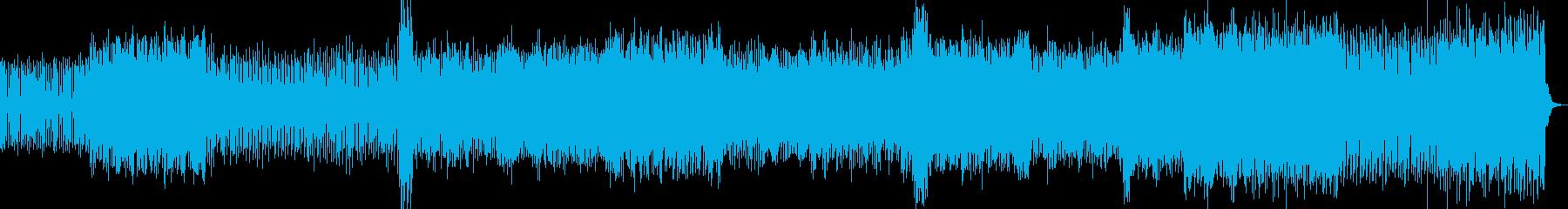 コンセプトムービー向け幻想的なトランスの再生済みの波形