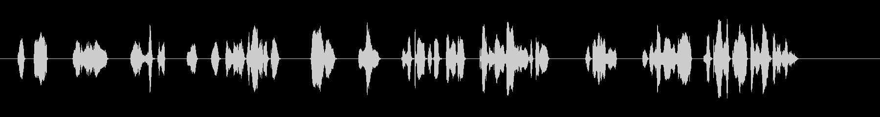 「密閉」、「密集」、「密接」の3つの密をの未再生の波形