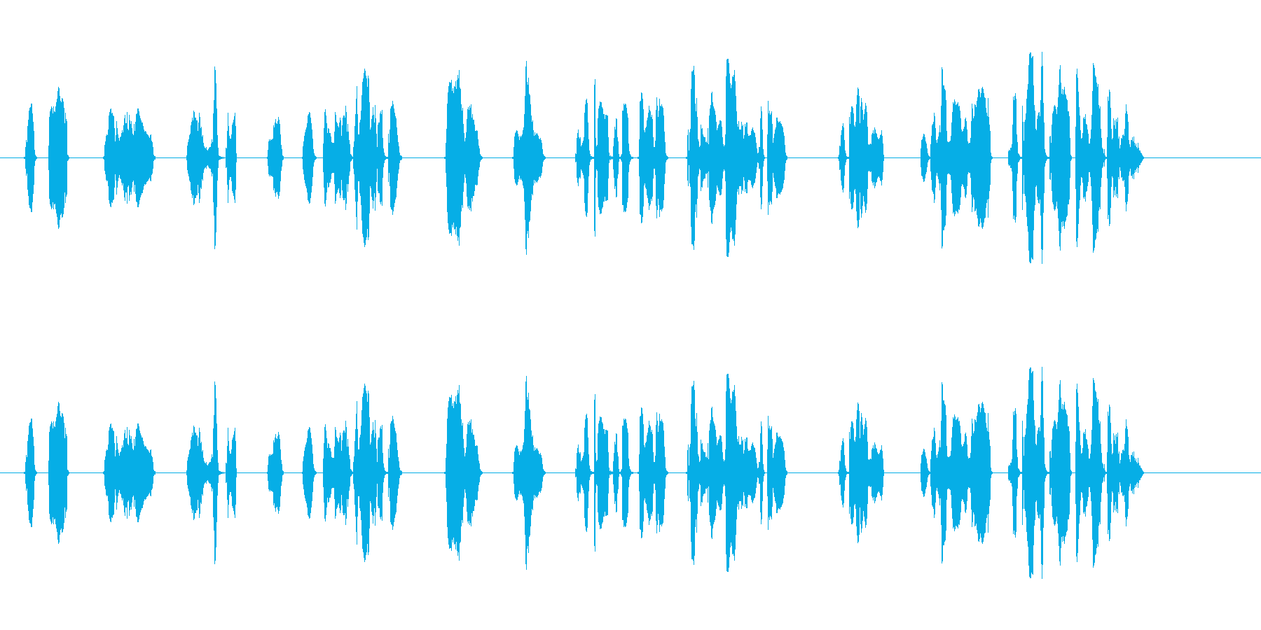 「密閉」、「密集」、「密接」の3つの密をの再生済みの波形