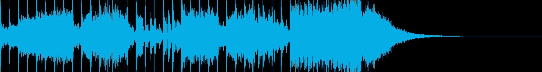 少しサスペンスの雰囲気なジングルの再生済みの波形
