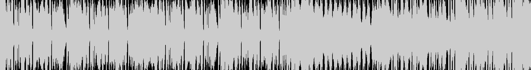 ノリ良くクールなEDM系のループ曲の未再生の波形