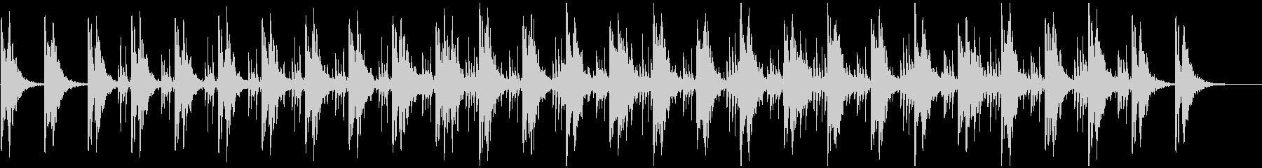 ミニマル系BGM(WAVバージョン)の未再生の波形