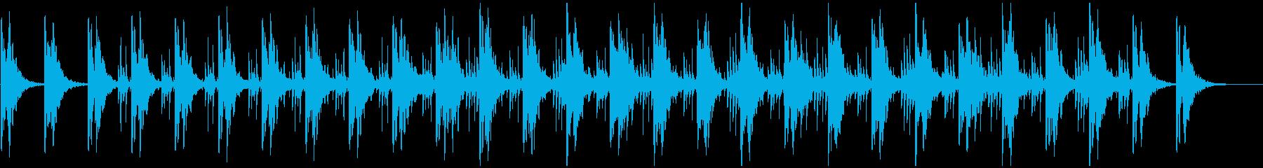ミニマル系BGM(WAVバージョン)の再生済みの波形