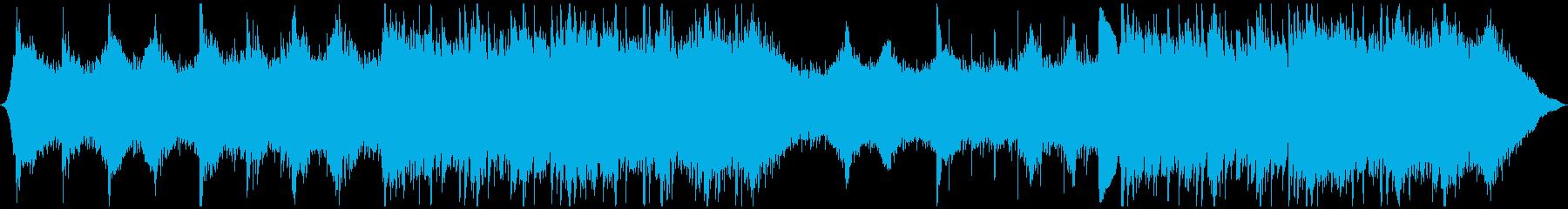 プロモーションビジネスオーケストラの背景の再生済みの波形