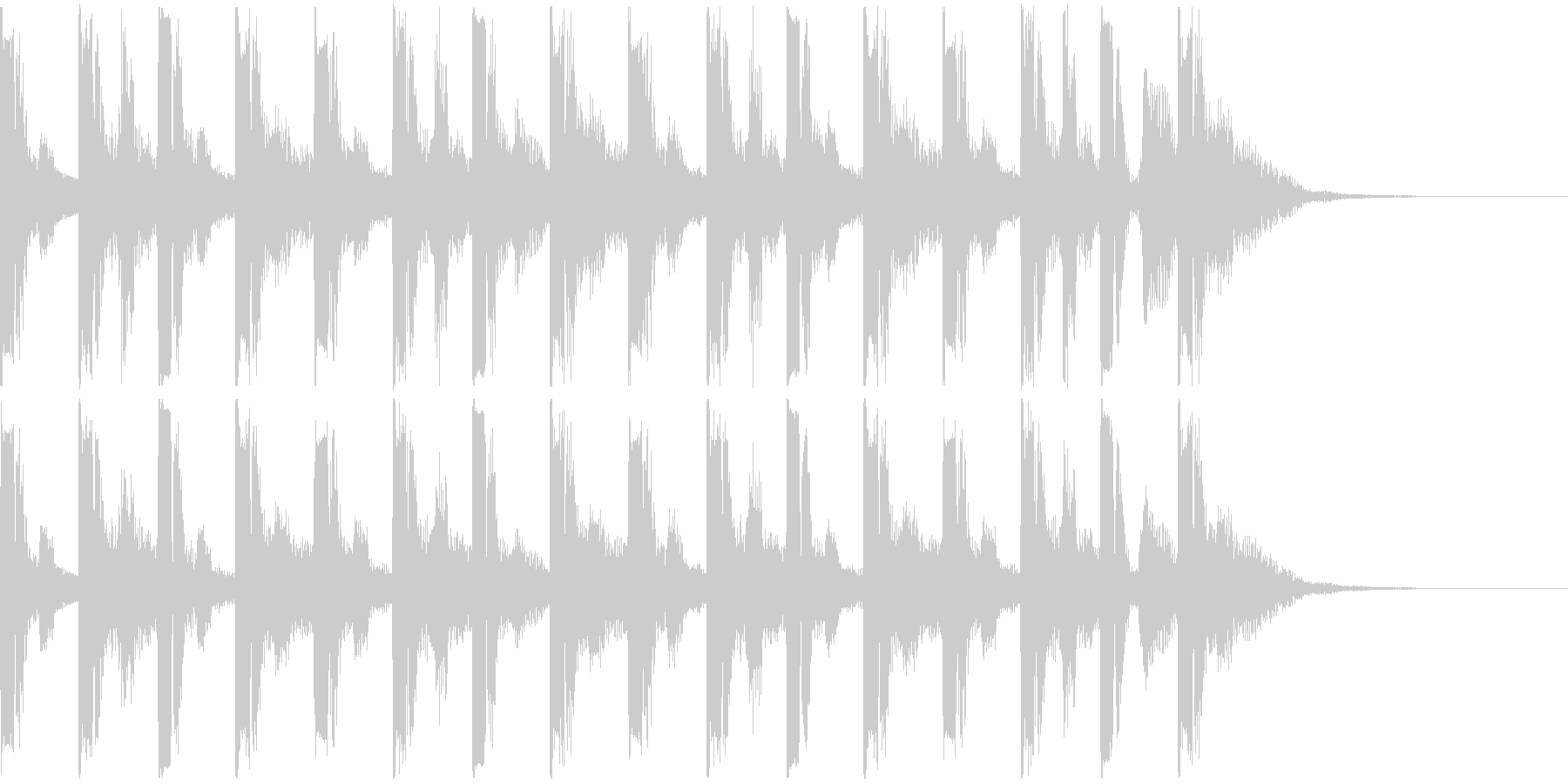 アメリカンスクール系連ドラ風ジングルの未再生の波形