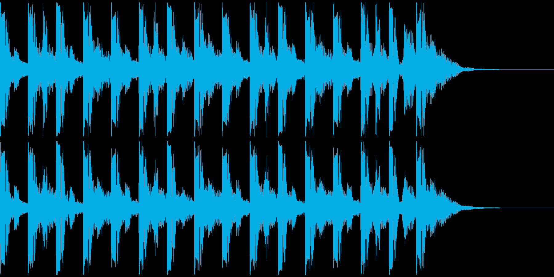 アメリカンスクール系連ドラ風ジングルの再生済みの波形
