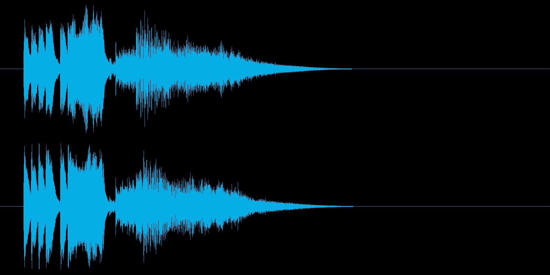 クイズ 正解の再生済みの波形