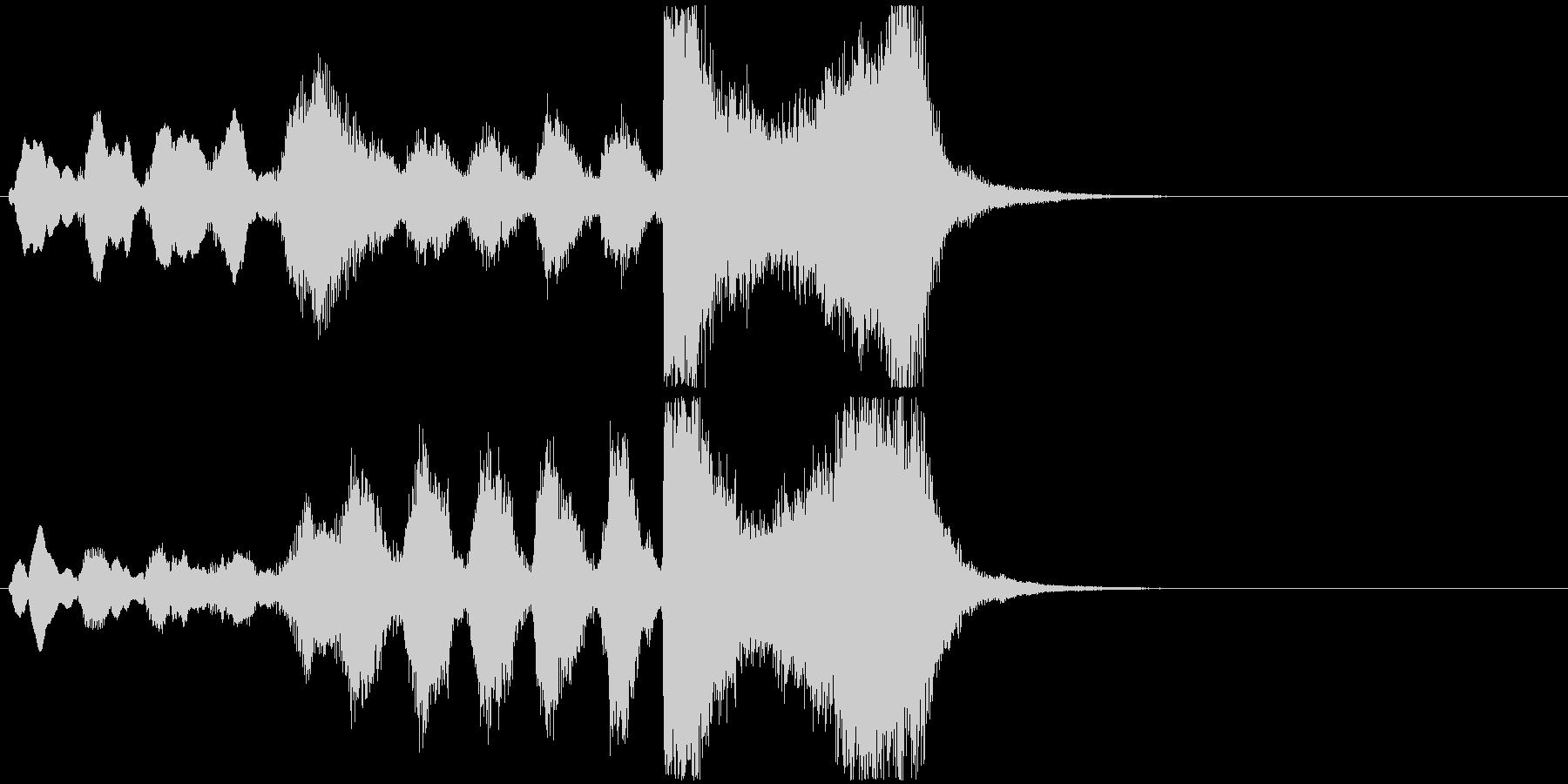 15 中程度の長さの金管ファンファーレの未再生の波形
