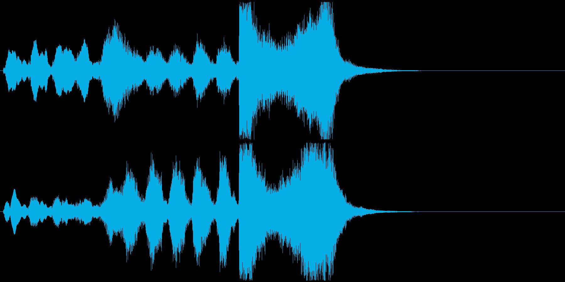 15 中程度の長さの金管ファンファーレの再生済みの波形