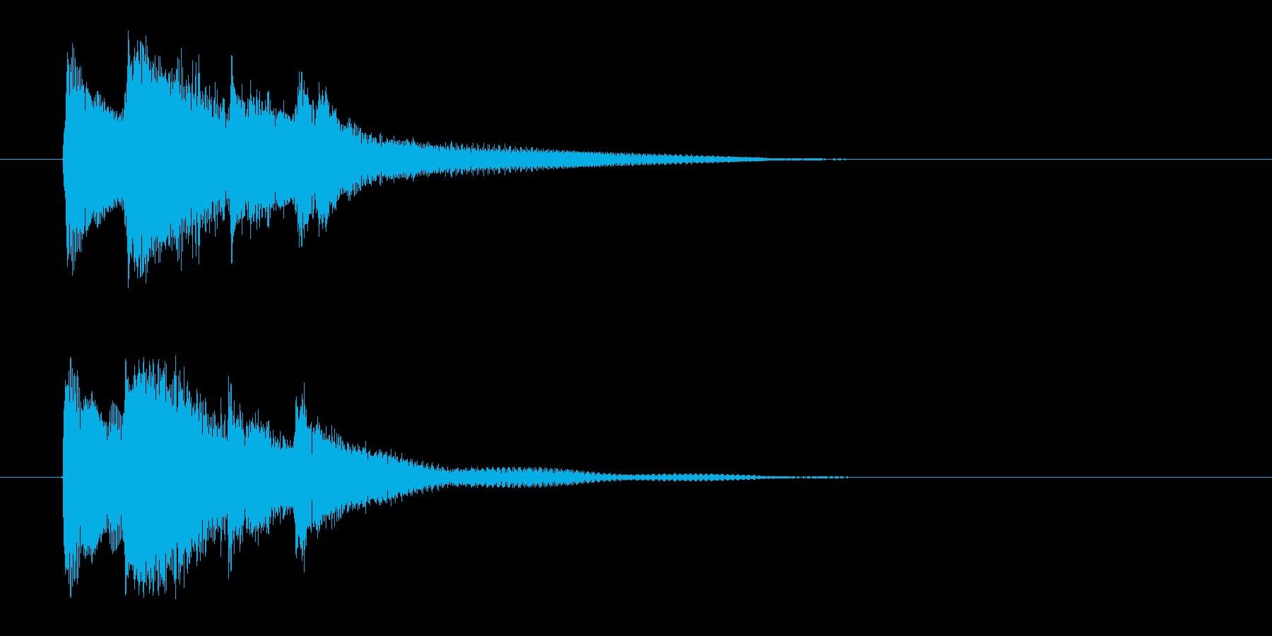 和をイメージした琴の効果音の再生済みの波形