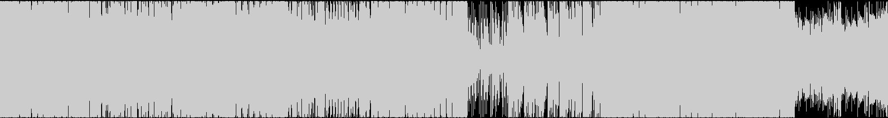 【ループ素材】緊迫感が伝わるバトルBGMの未再生の波形