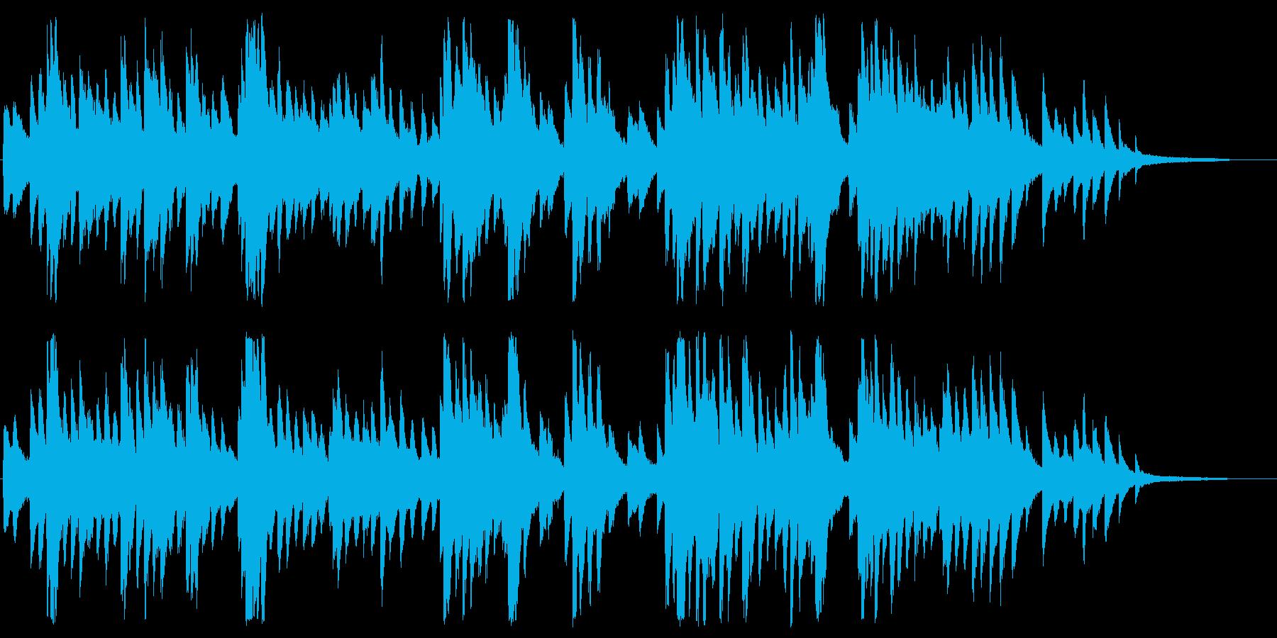 透明感のあるしっとりピアノの再生済みの波形
