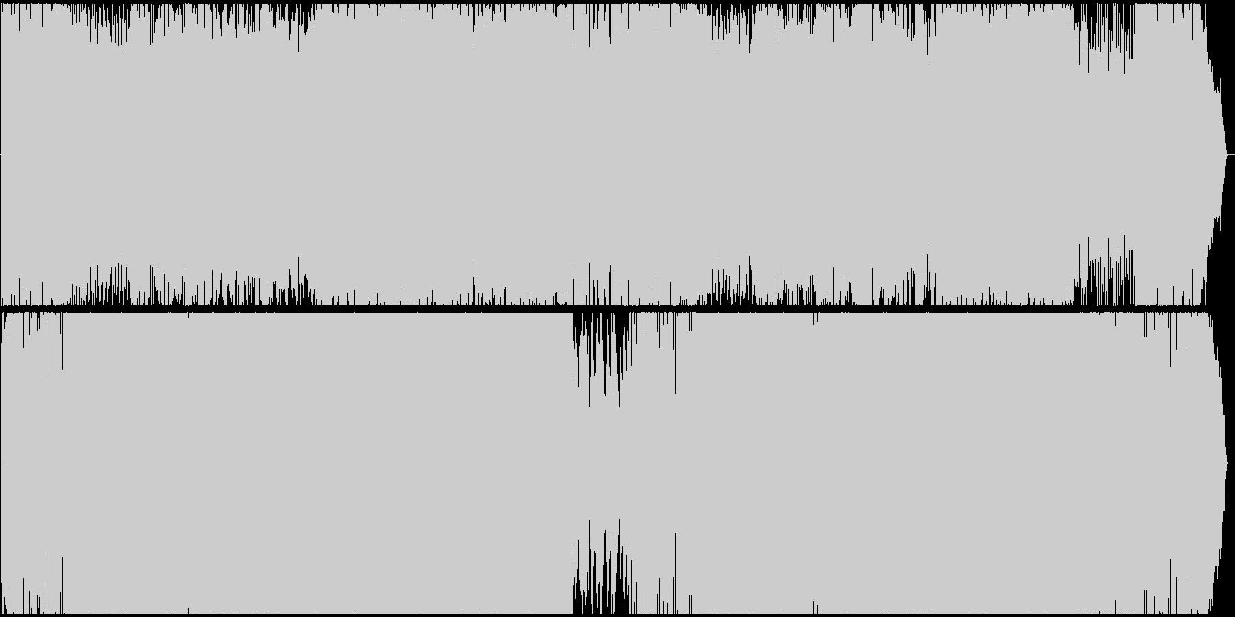 ウクレレとシンセサイザーのEDMの未再生の波形