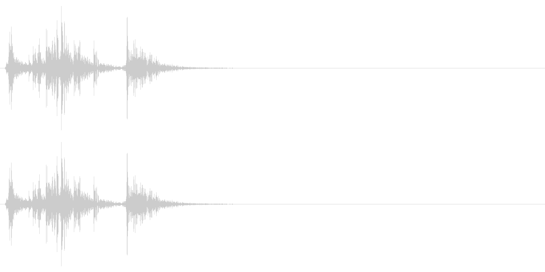 アタッシュケースを開ける音の未再生の波形