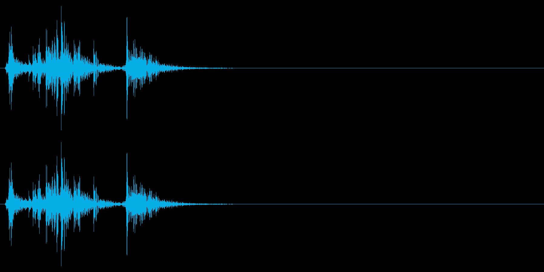 アタッシュケースを開ける音の再生済みの波形