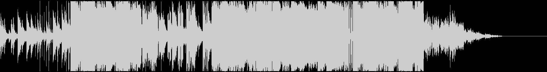 レトロでジャジーなローファイヒップホップの未再生の波形