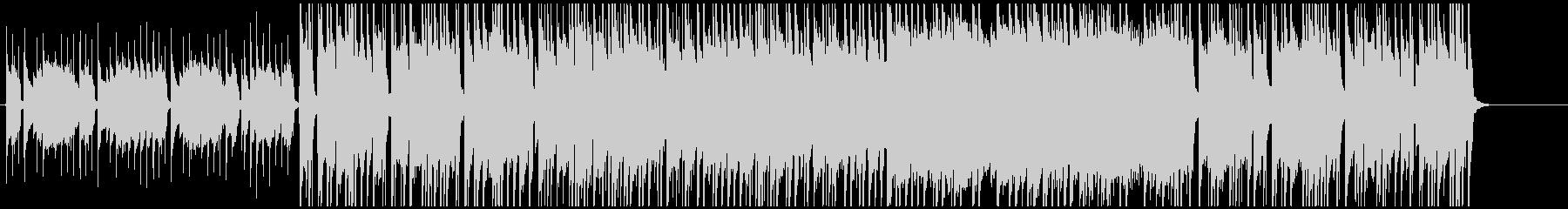 3拍子の落ち着いたポストロックの未再生の波形