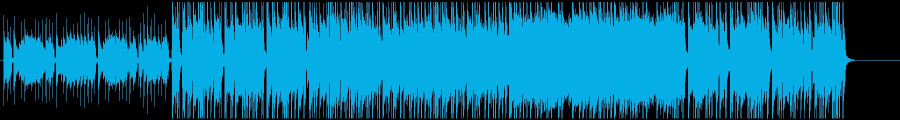 3拍子の落ち着いたポストロックの再生済みの波形