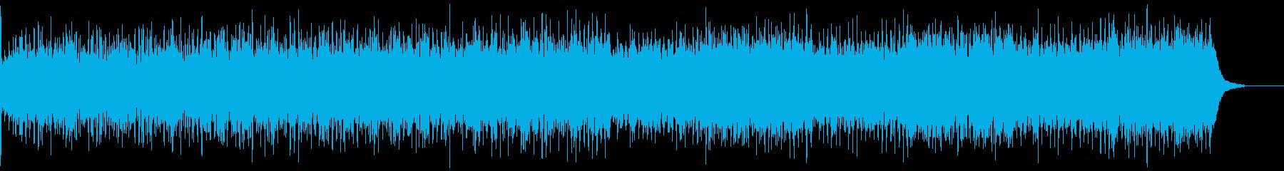 愉快な伝統的フォークミュージックの再生済みの波形