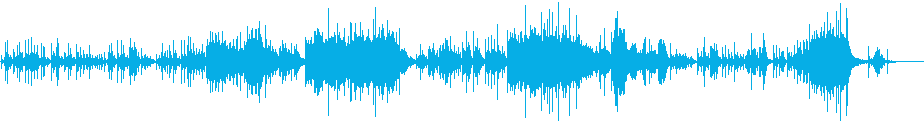 Moist and sad piano solo's reproduced waveform