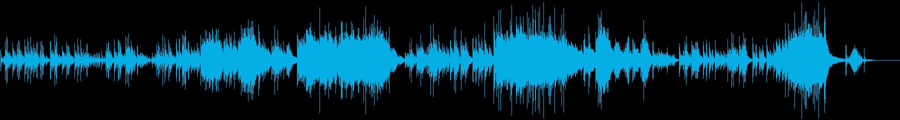 しっとりとした切なく悲しいピアノソロの再生済みの波形