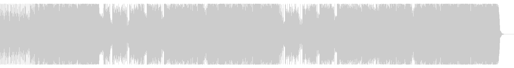 スピード感のあるインダストリアルロックの未再生の波形