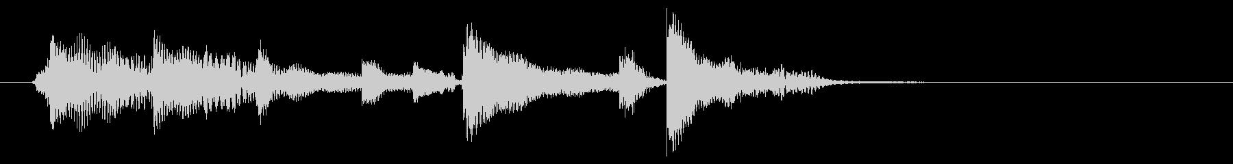 実質5秒:童謡風の脱力系ジングルの未再生の波形