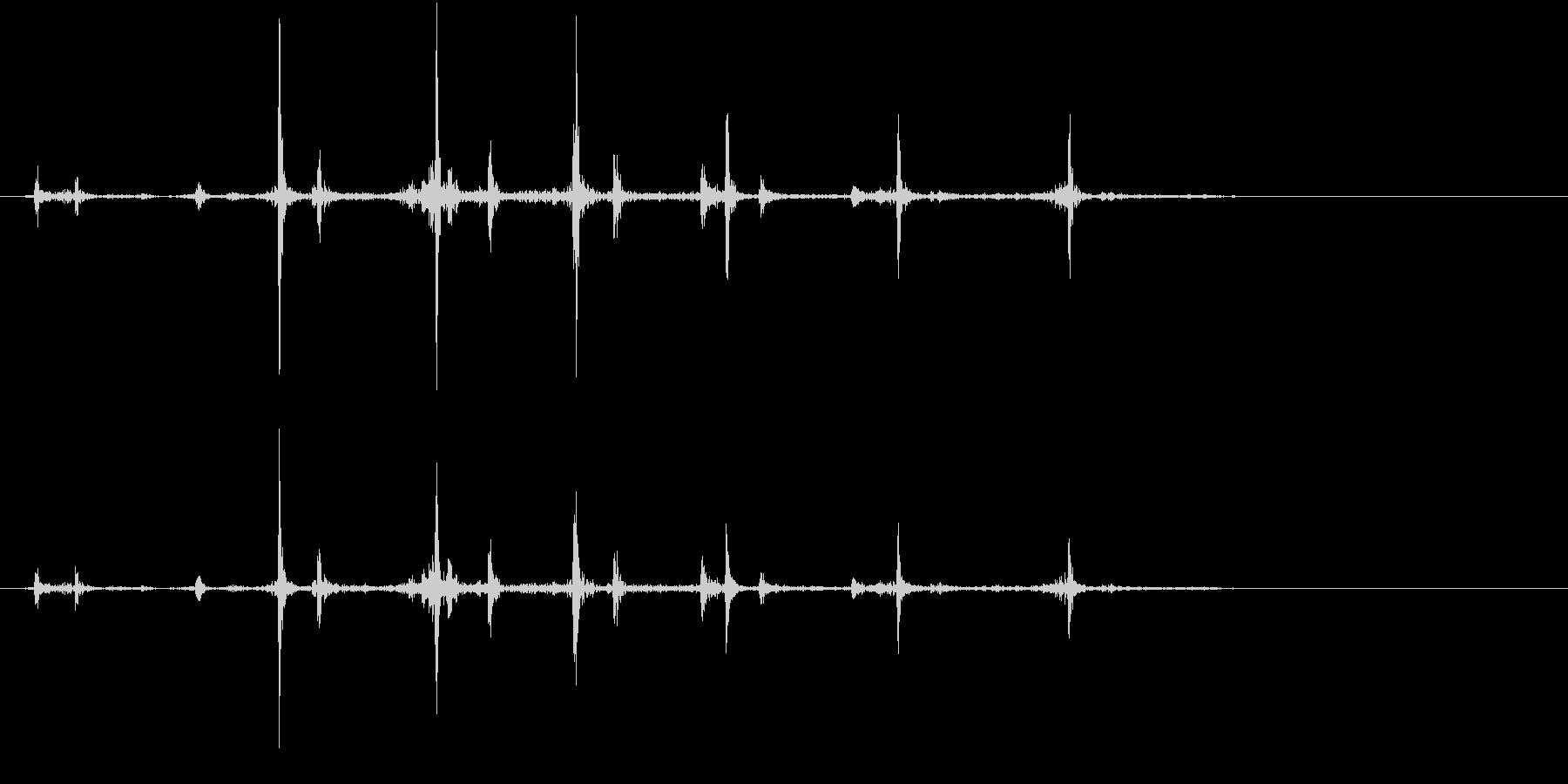 【生録音】カッターナイフの音 10の未再生の波形