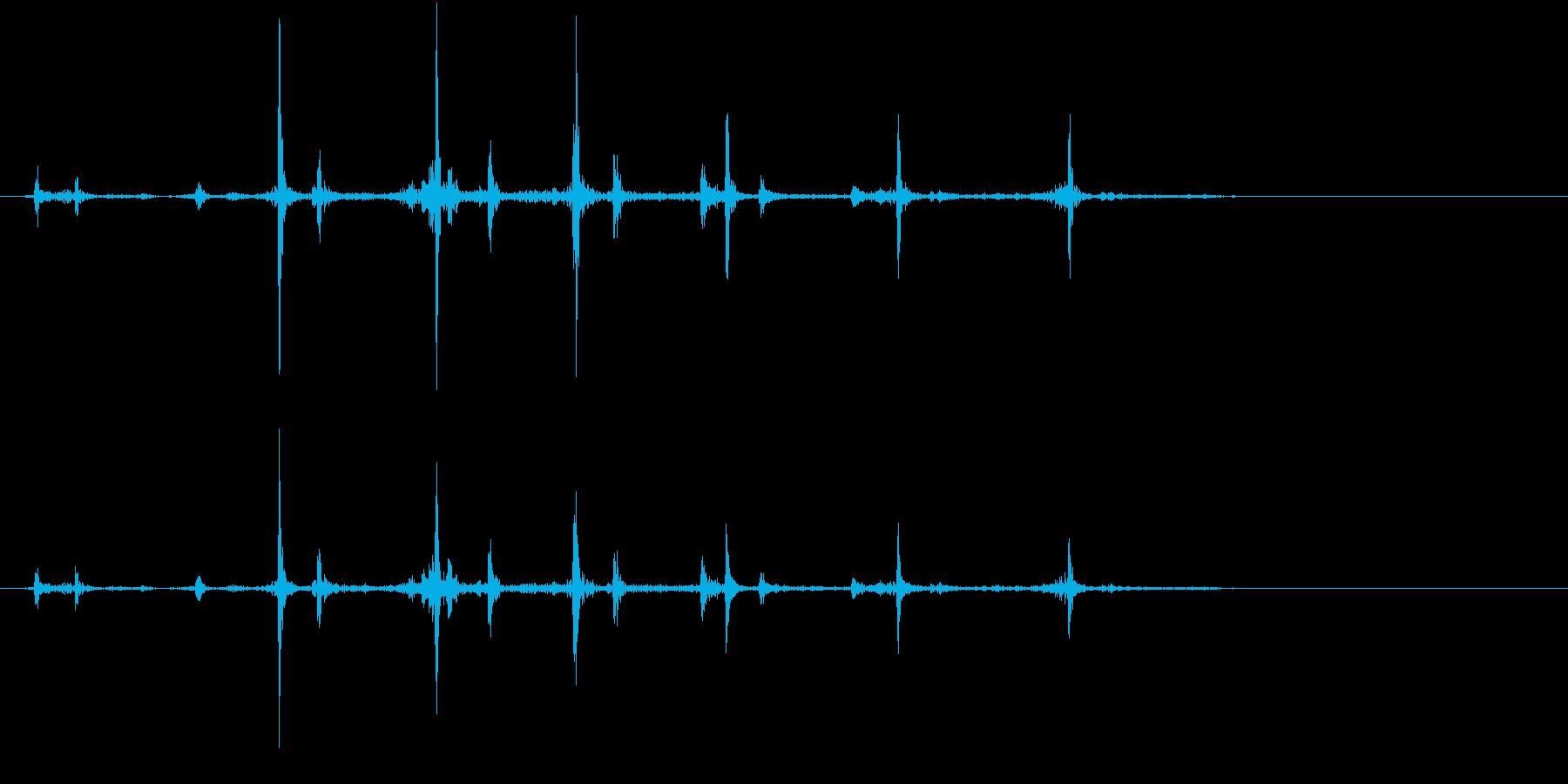 【生録音】カッターナイフの音 10の再生済みの波形
