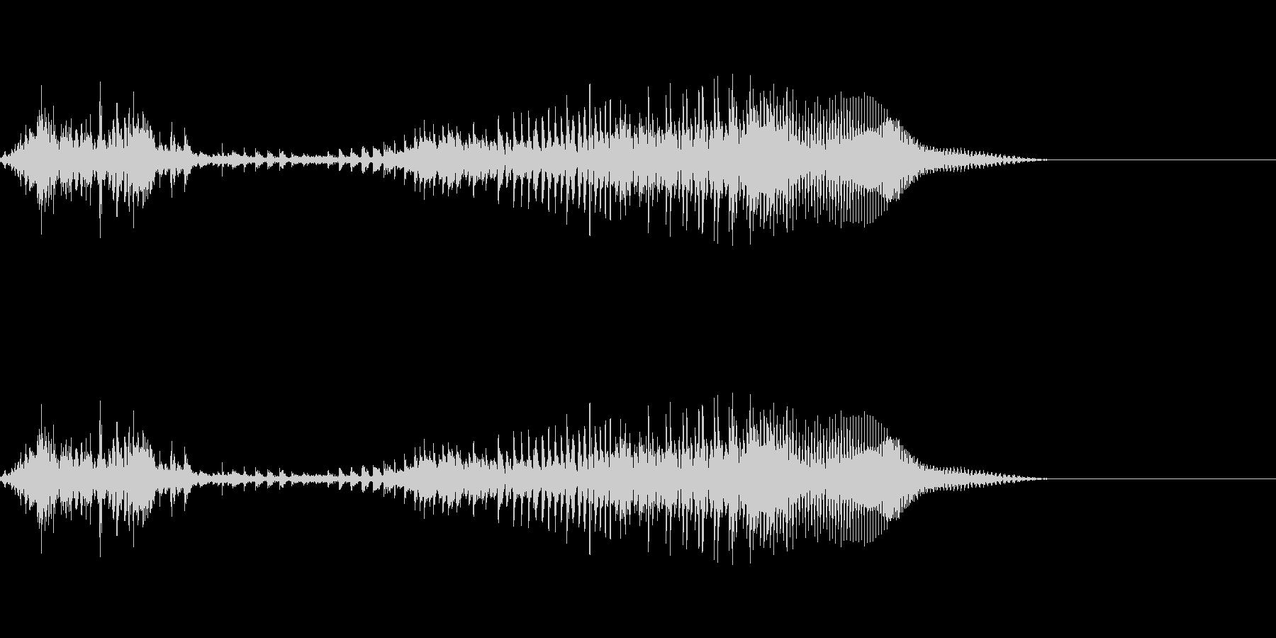 てぇい!3(勢いあり)の未再生の波形