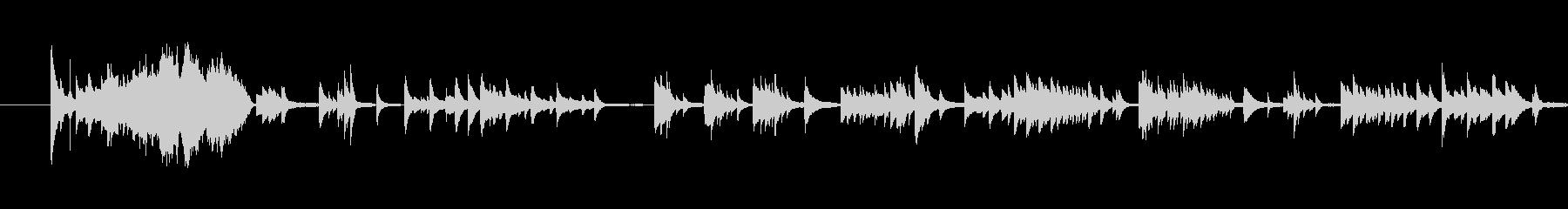感情が揺れ動く切なく美しいピアノバラードの未再生の波形