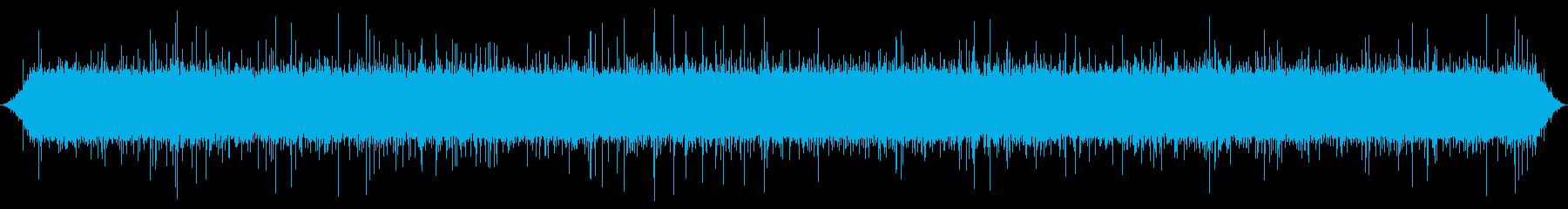 渓流:一定の重い流れ、軽いはねの再生済みの波形