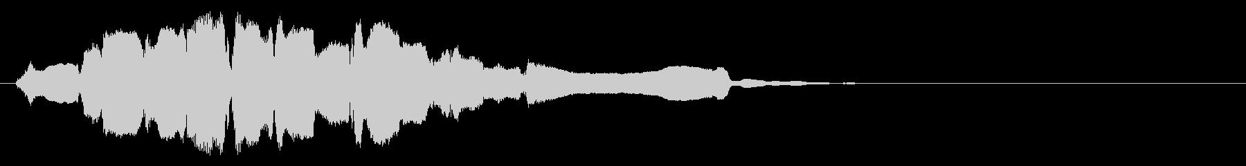 祭りっぽい終幕◆篠笛生演奏の和風効果音の未再生の波形