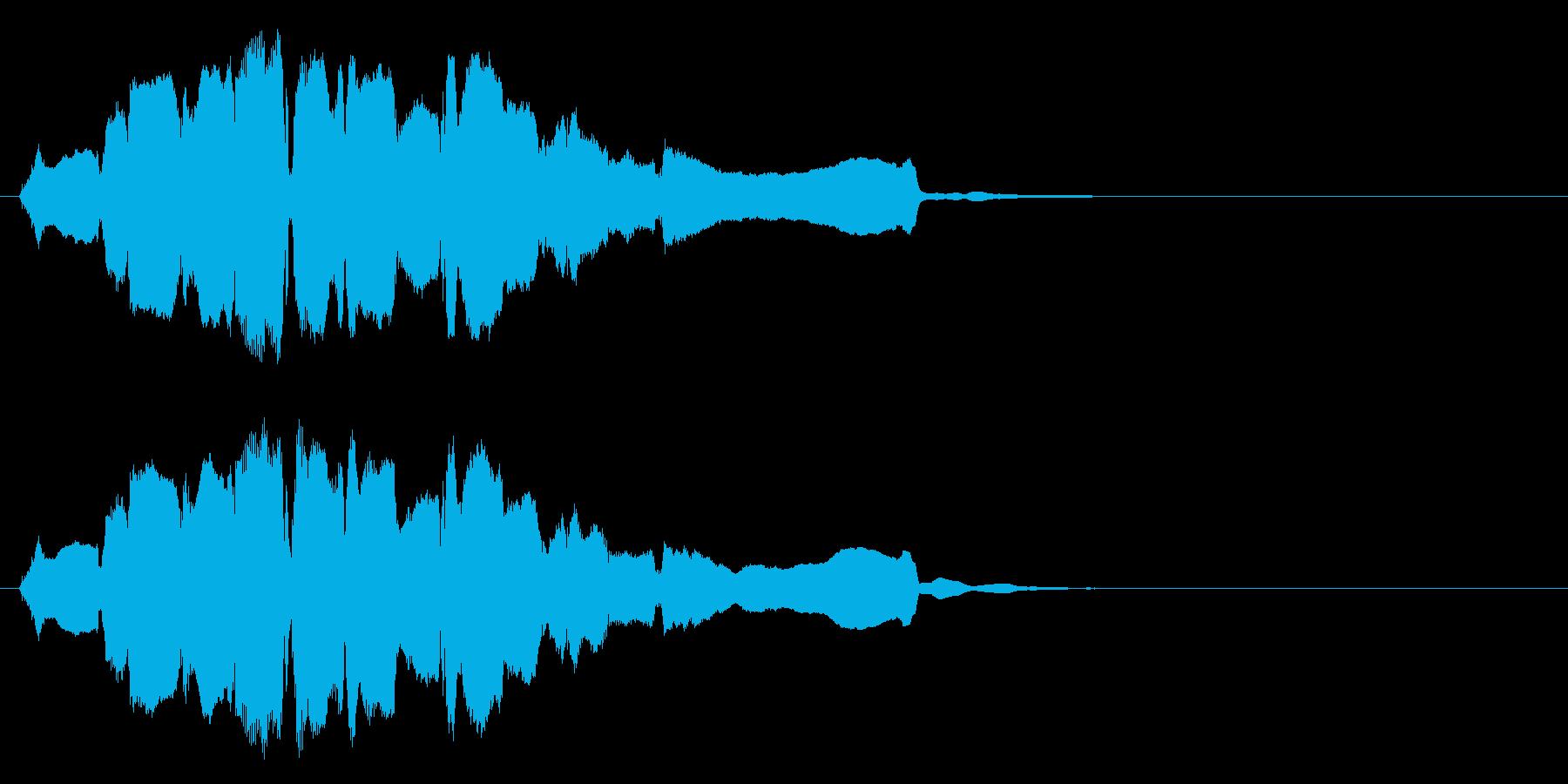 祭りっぽい終幕◆篠笛生演奏の和風効果音の再生済みの波形