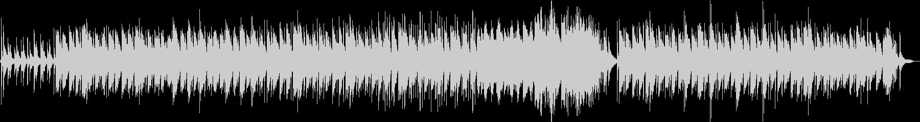 ピアノ独奏のヒーリング音楽の未再生の波形