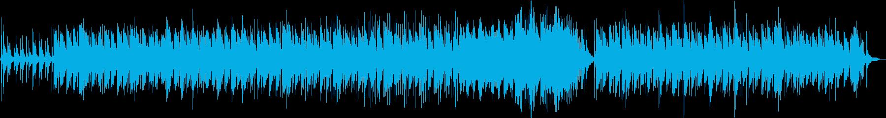 ピアノ独奏のヒーリング音楽の再生済みの波形